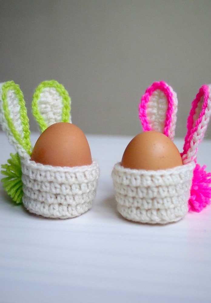 Cestinhos em formato de coelho para guardar ovos: boa ideia para páscoa
