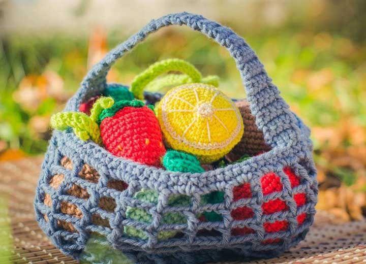 E onde guardar as frutas de crochê? A resposta vem logo abaixo