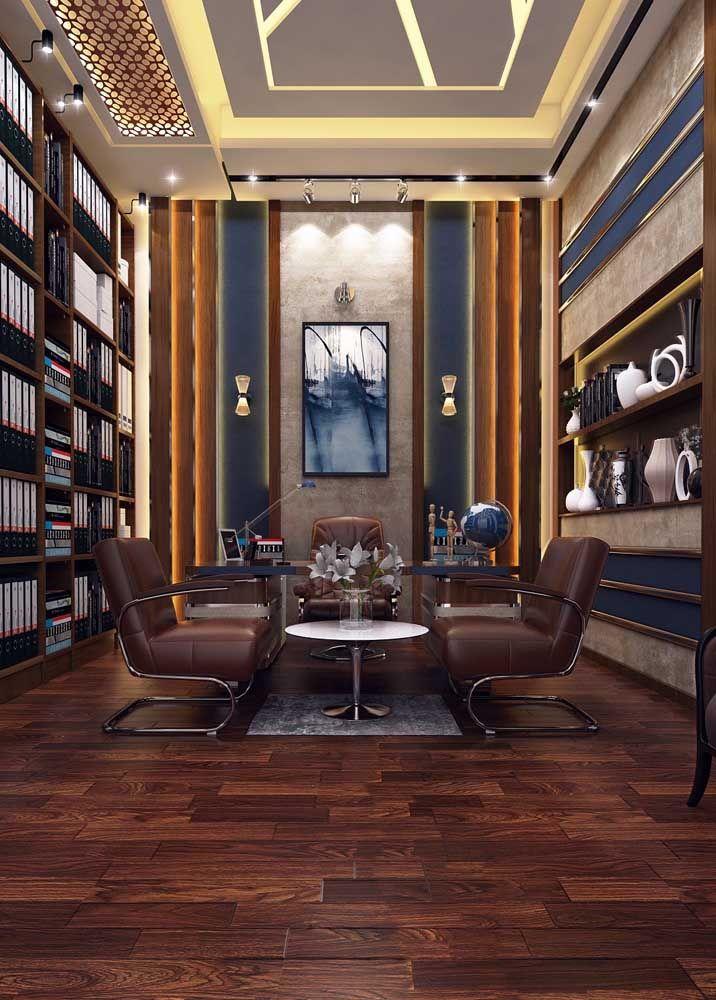 Imagina um ambiente elegante como esse com um piso de madeira gasto? Não dá né?