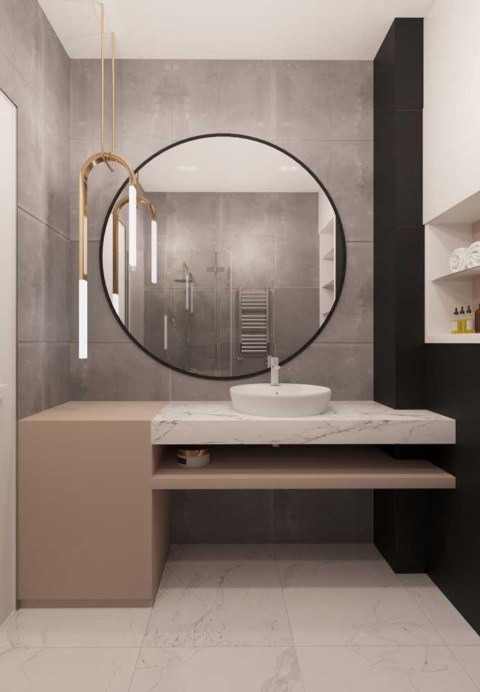 O que uma luminária pode fazer pelo seu banheiro? Toda a diferença, na iluminação e na decoração