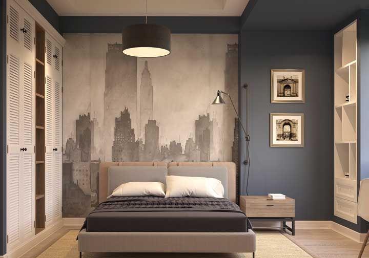 Redonda, simples e acolhedora: luminária perfeita para o quarto de casal
