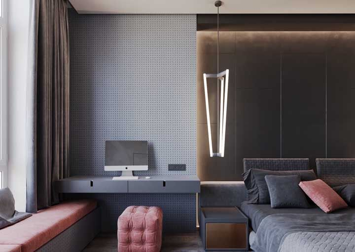 Modelo minimalista de luminária