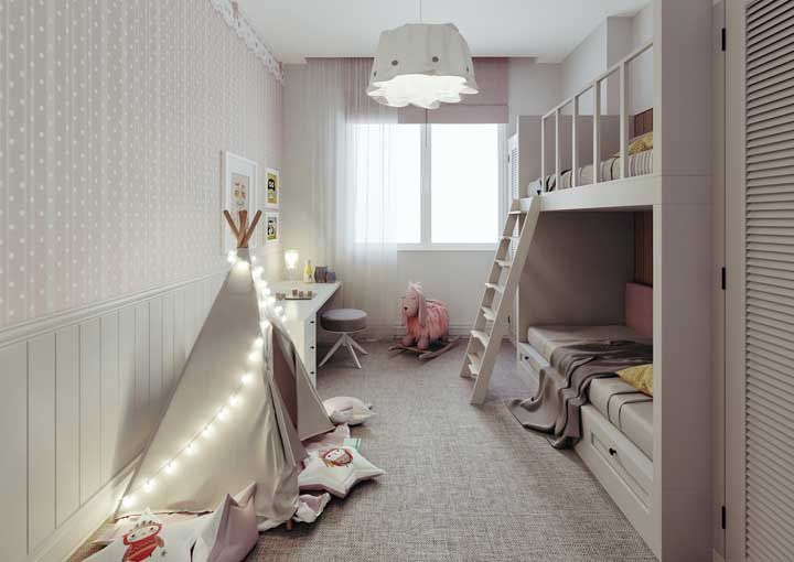Nos quartos infantis é possível brincar com formatos lúdicos e divertidos de luminárias
