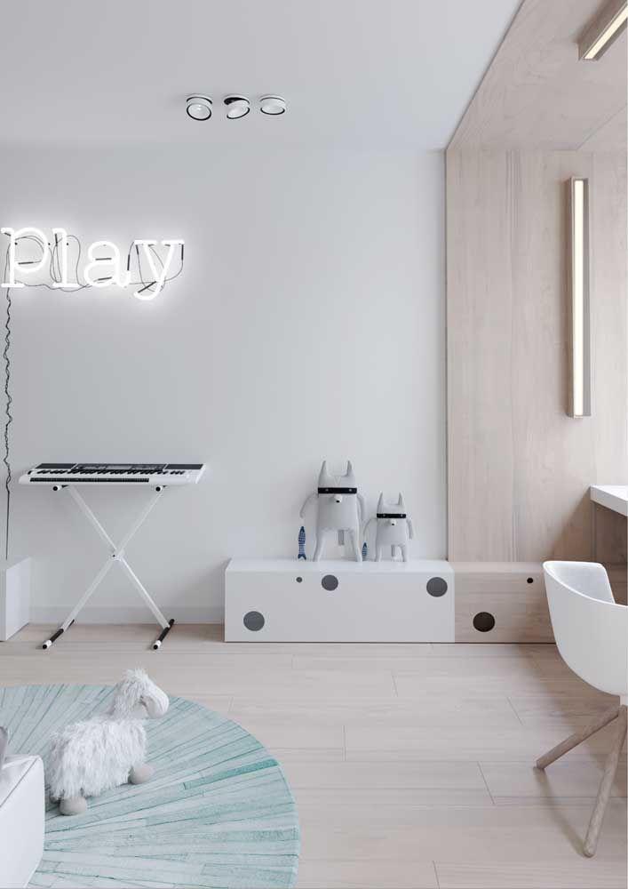 No quarto infantil o piso flutuante funciona como um toque a mais de acolhimento e conforto