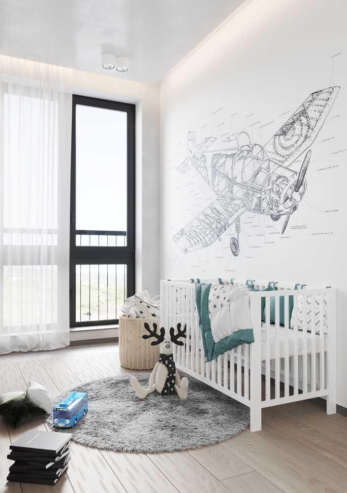 Um tapetinho para completar a decoração e o conforto do quarto de bebê