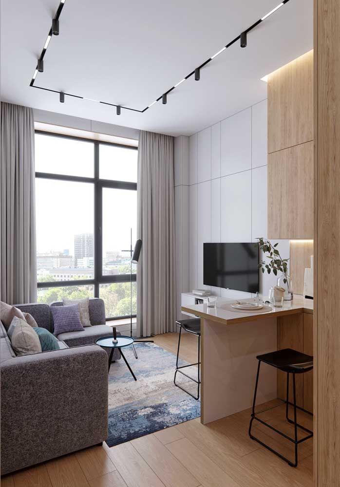 O piso flutuante é ideal para ser usado em apartamentos, já que uma de suas principais características é o isolamento acústico