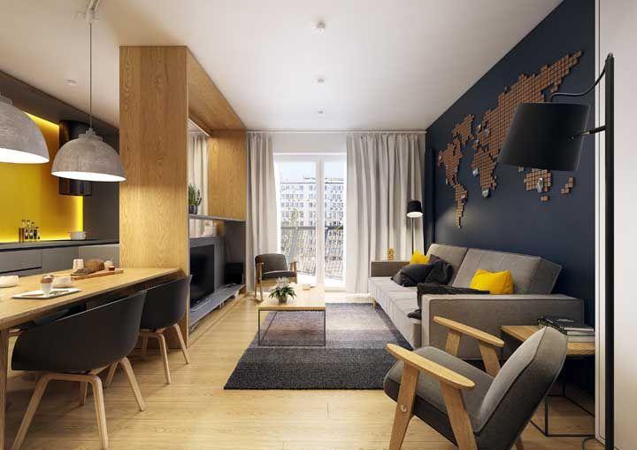 Dúvidas de como combinar o tom do piso com a mobília? Então se inspire nessa imagem, ela vai te ajudar
