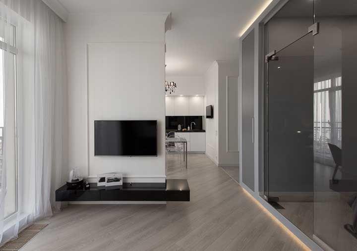 Um piso onde praticamente não se enxerga as emendas