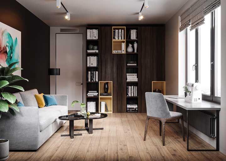 Mesmo os ambientes menores também se beneficiam muito da beleza e conforto do piso flutuante