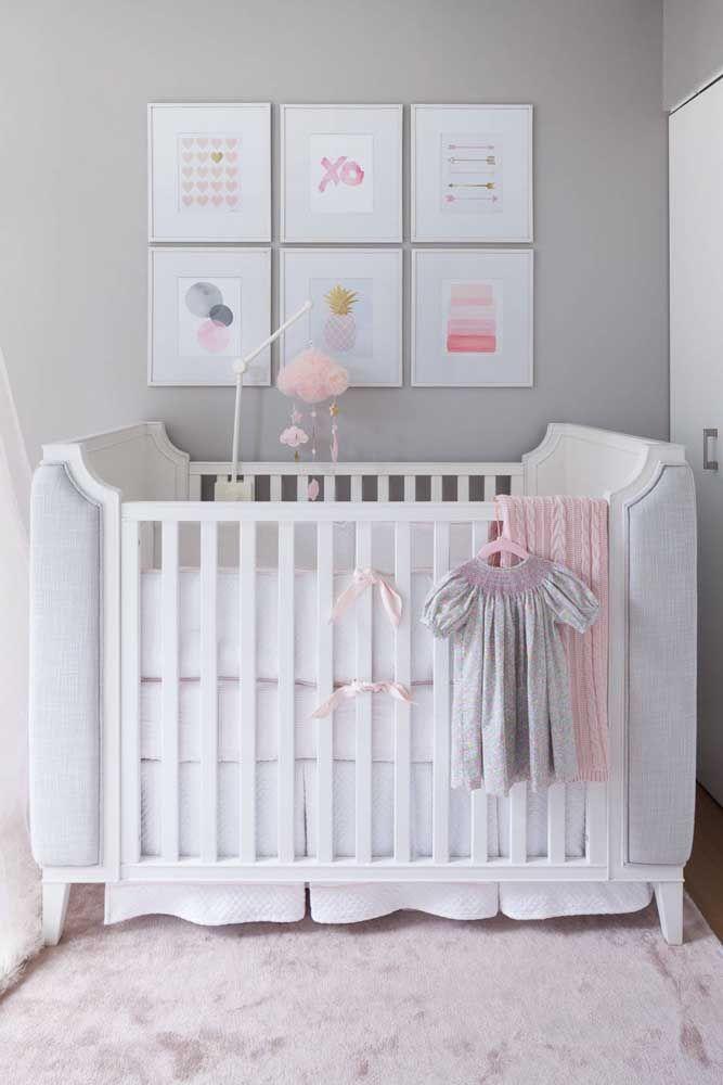 Decoração com quadros para o quarto de bebê: simples, barata e sem erro