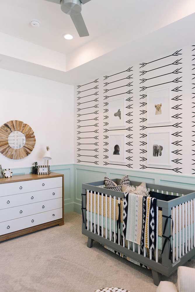 Tem opção escandinava para o quarto de bebê também