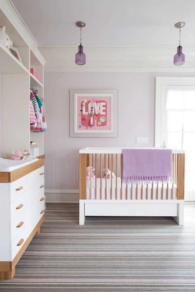 E como decorar o quarto da menina sem partir para o rosa? Invista no roxo e suas tonalidades