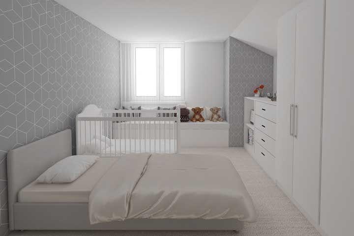Dá para ser minimalista no quarto de bebê também