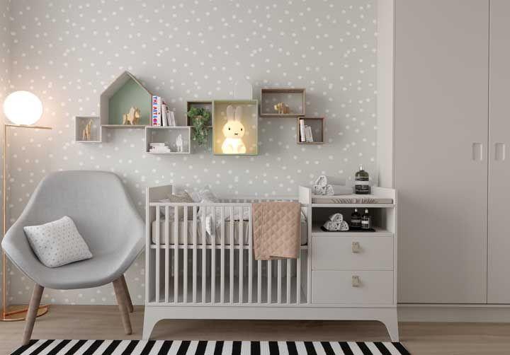 Nichos são uma ótima opção para decoração de quartos de bebê