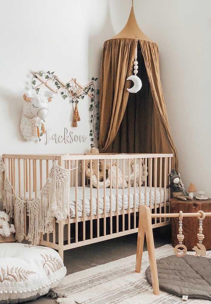 Quartinho de bebê decorado ao melhor estilo boho