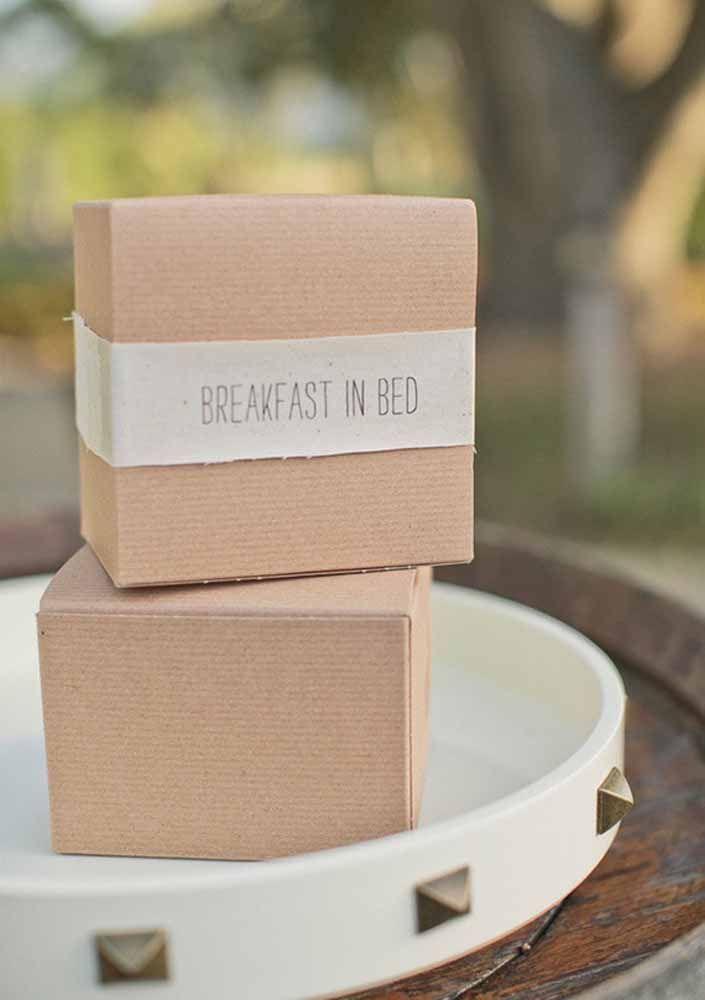Café da manhã na caixa: uma ideia simples para arrebatar o coração dos seus convidados