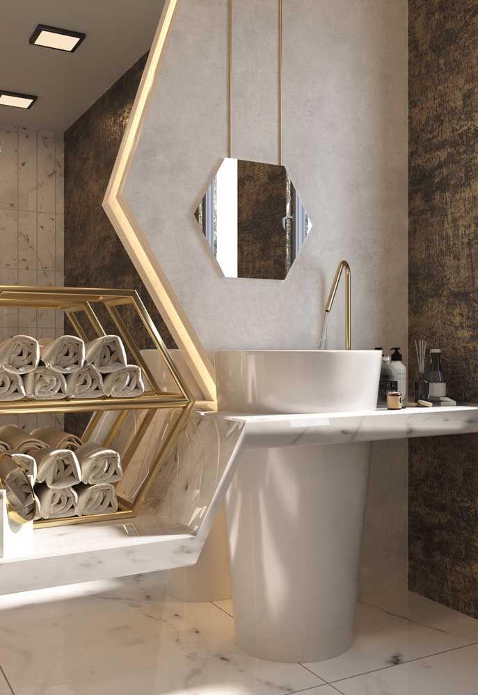 Nada como a simplicidade das formas para deixar um banheiro elegante