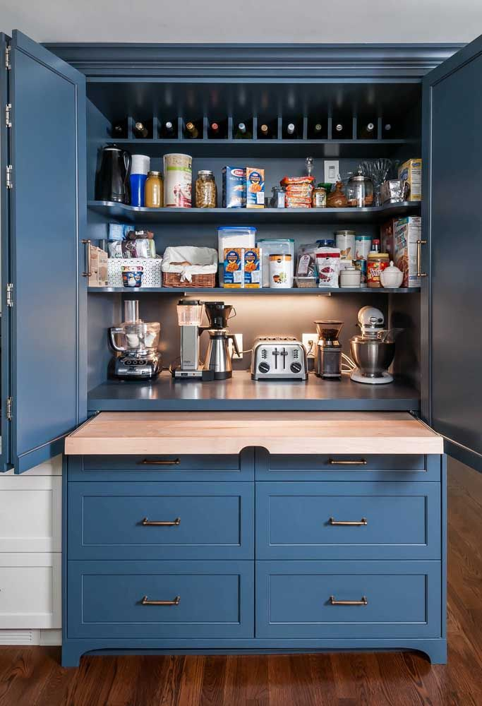 Prefere deixar tudo escondidinho? Então a cozinha planejada é a sua melhor opção