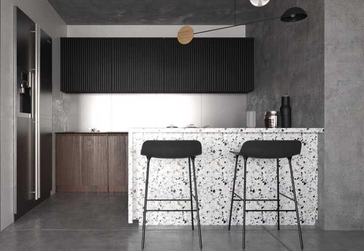 Diferencie sua cozinha apostando em móveis com textura