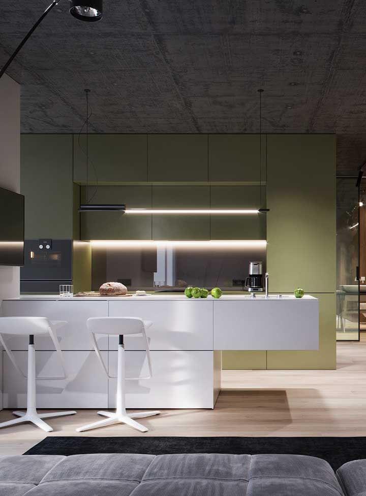 Integração é a chave dessa cozinha moderna