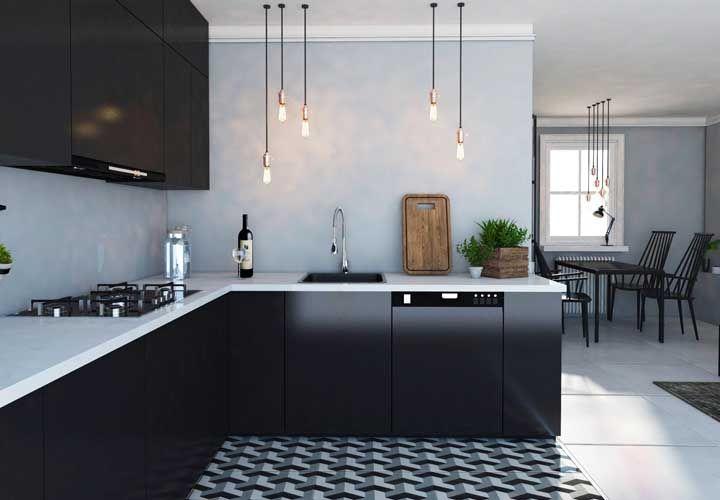 Pendentes! Use e abuse deles na decoração moderna da cozinha