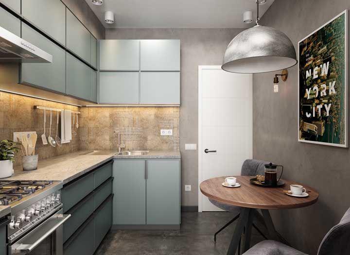 Mesmo pequena, a cozinha moderna pode ser sinônimo de beleza e funcionalidade