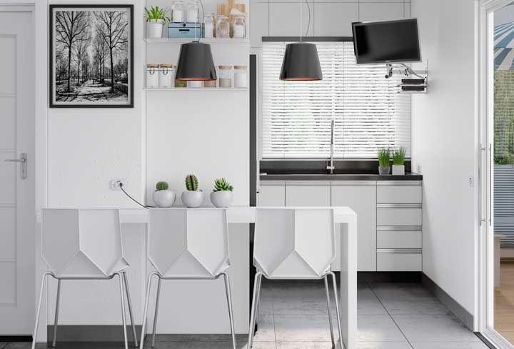 Pequena, simples e moderna: as cozinhas modernas se encaixam em qualquer espaço