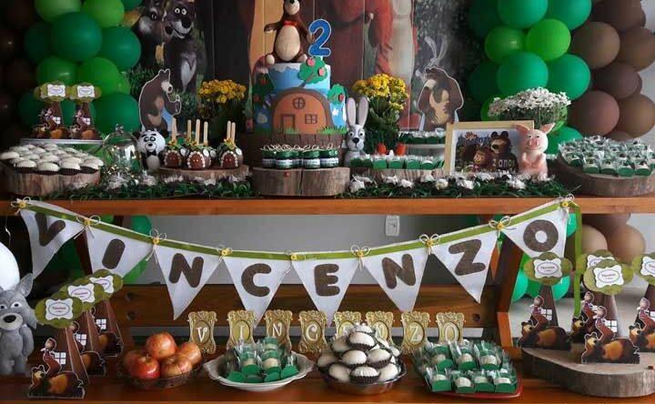 Festa Masha e o Urso: veja inspirações e dicas para decorar o aniversário