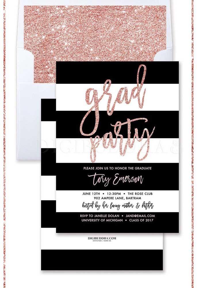 Um convite glamouroso