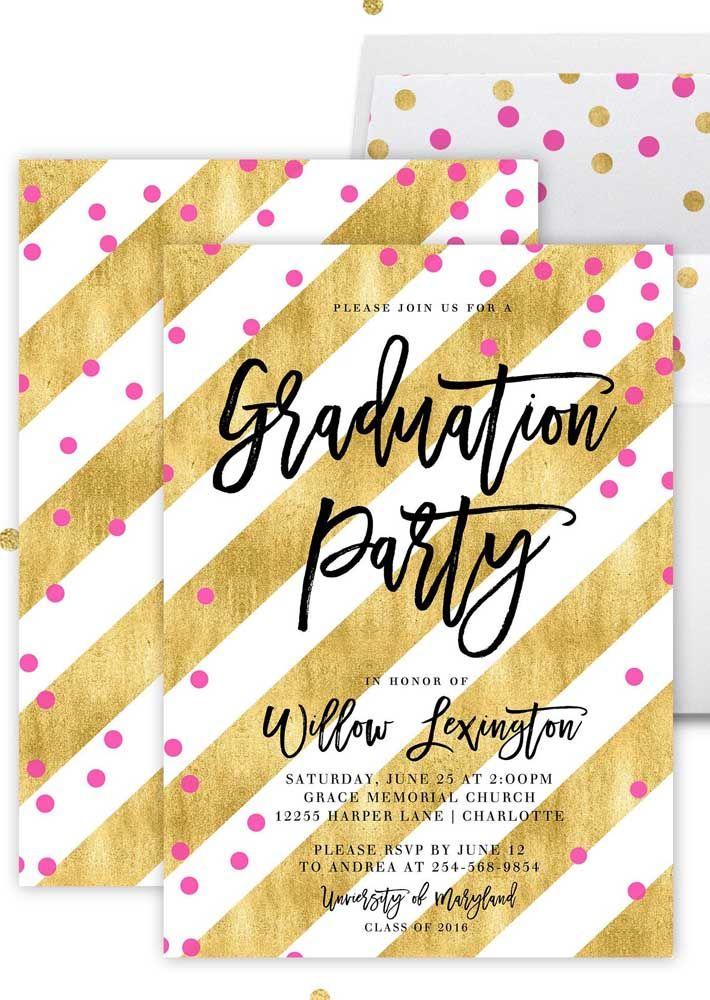 Convite e envelope seguem o mesmo padrão