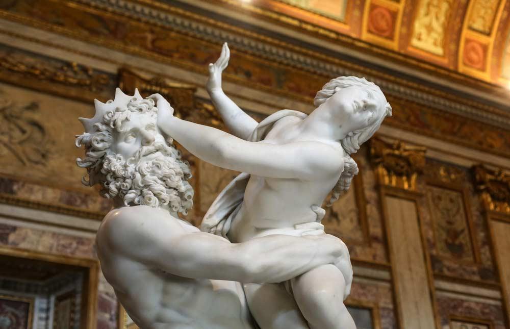 Barroco grupo escultural em mármore do artista italiano Gian Lorenzo Bernini