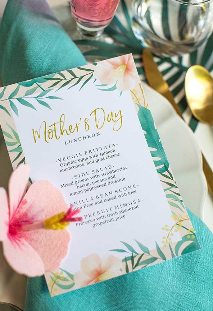 Não esqueça de preparar o cardápio do dia das mães inspirado na dona da festa.