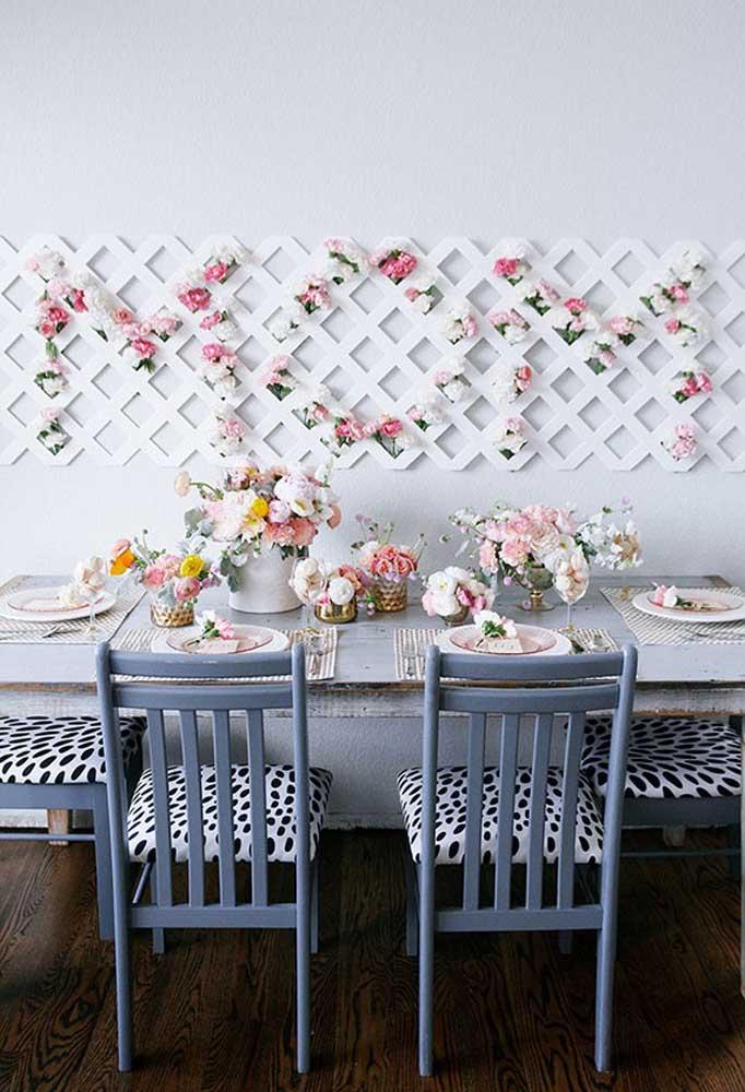 Não é à toa que as flores são muito usadas na decoração porque o ambiente fica perfeito.