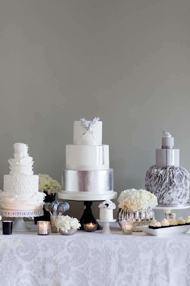 E se ao invés de um bolo você usar três?