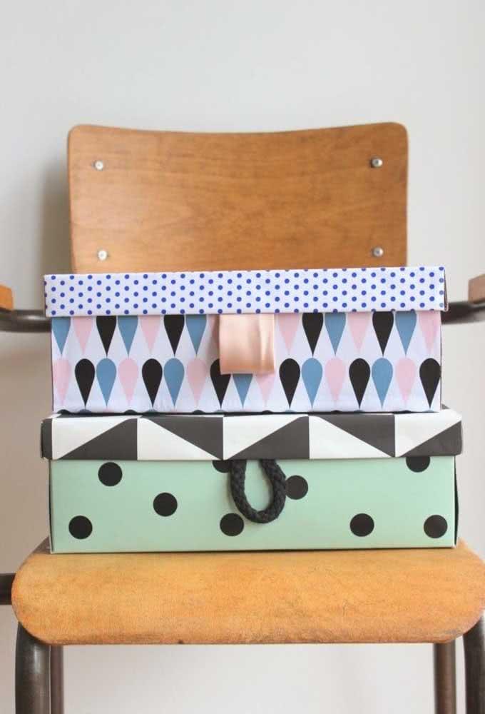 Você pode criar caixas muito estilosas para usar como presente ou vender.