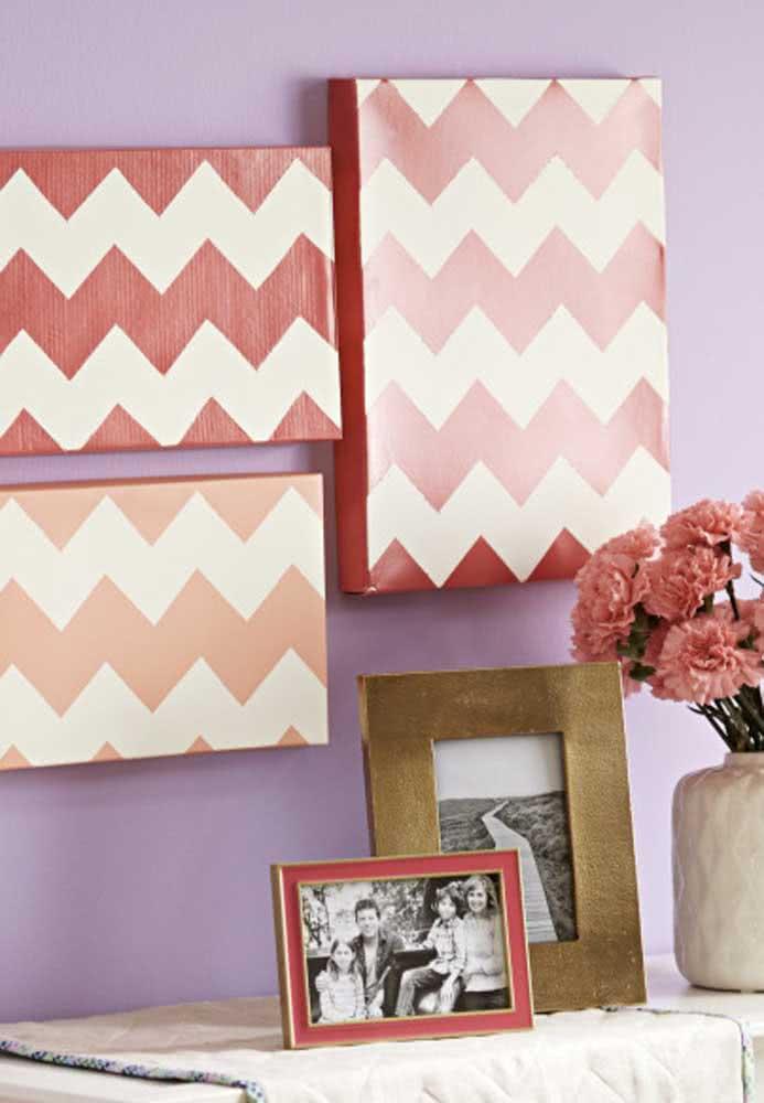 E que tal usar as caixas como itens decorativos na parede da sua casa?