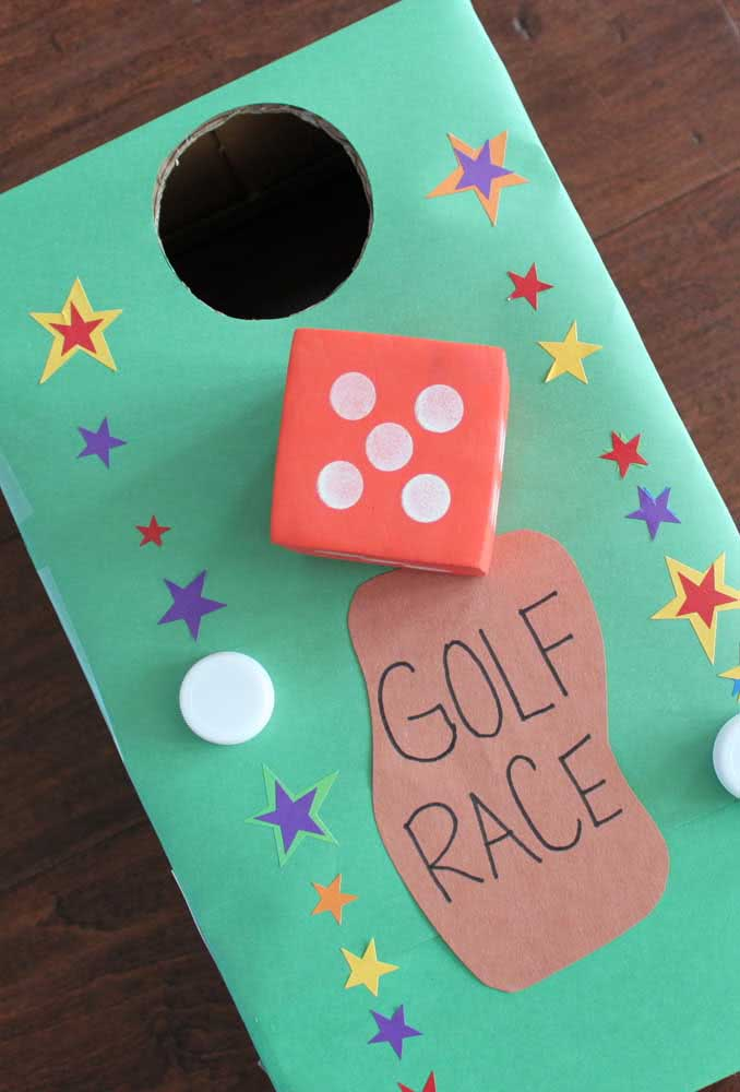 Mini golf na caixa de sapato!