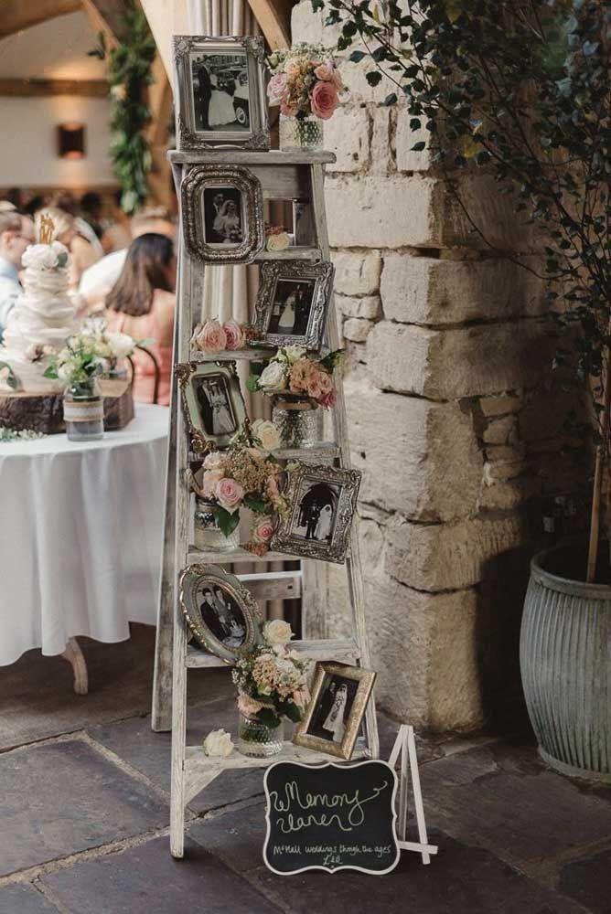 E logo na entrada da festa as fotos, muitas fotos do casal.