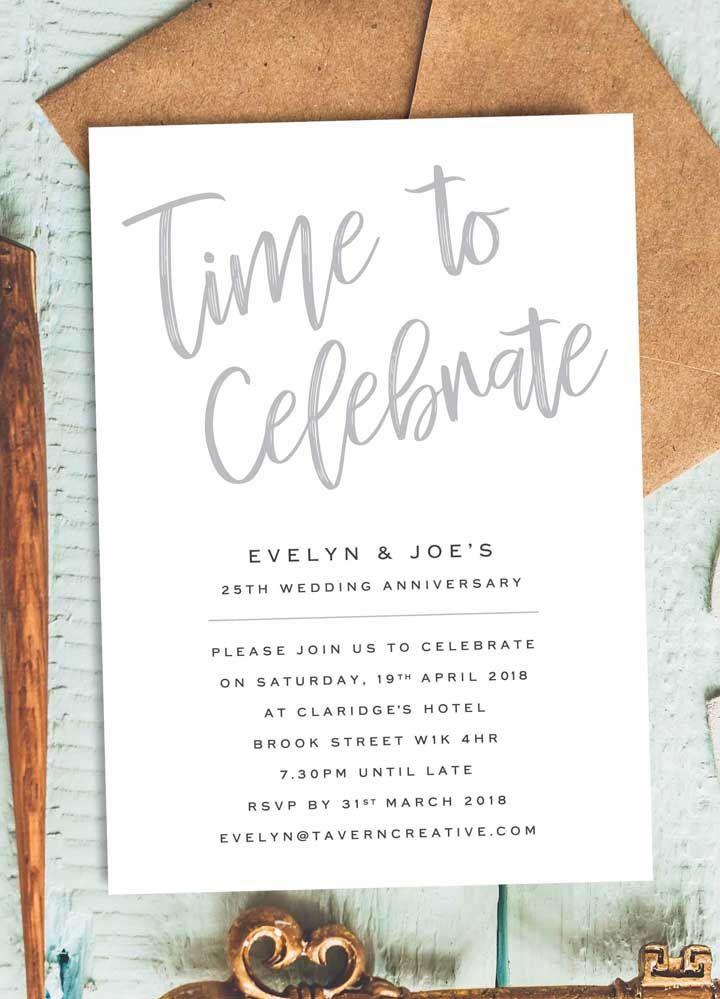 Convite de bodas de prata: simples, objetivo e, acima de tudo, bonito