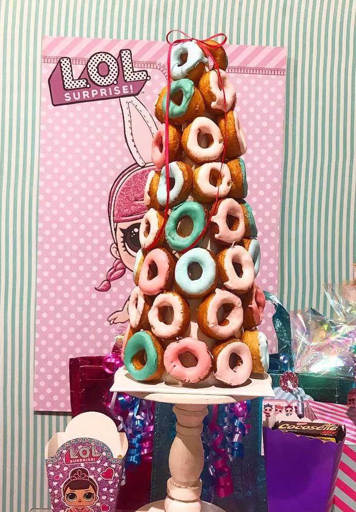 Torre de donut's para decorar, gostou?