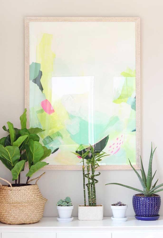 Coloque suas plantas preferidas em um local especial da casa