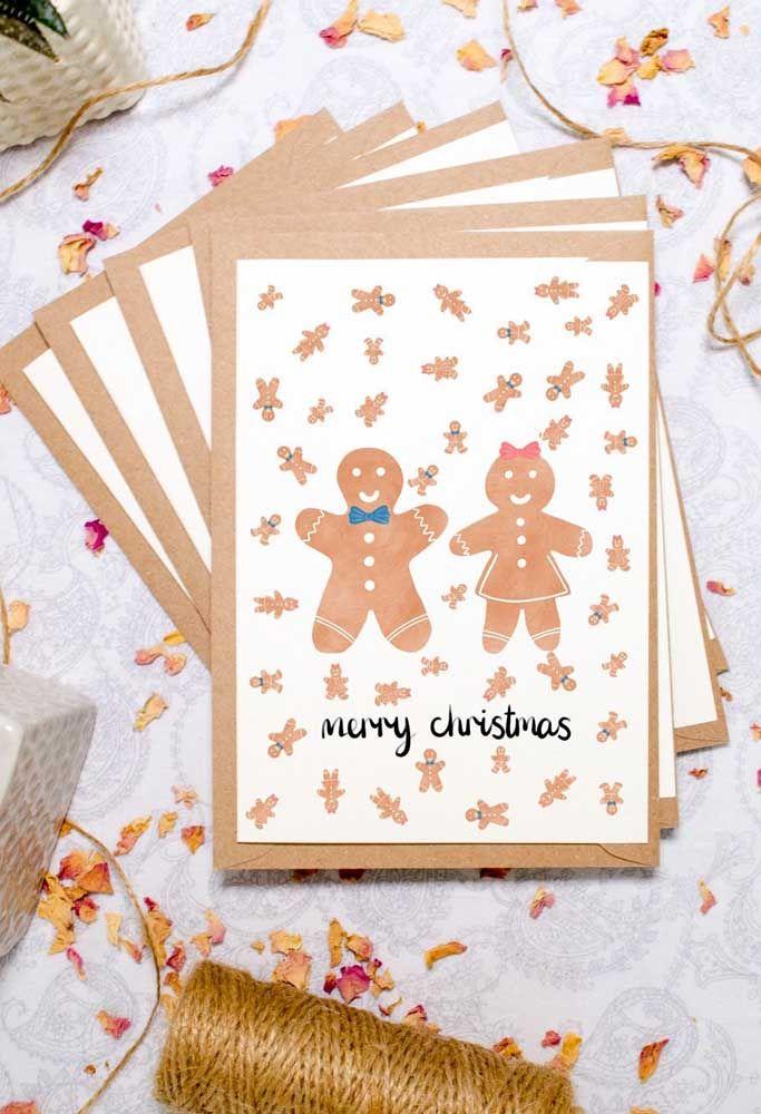 Ao invés de um, faça vários cartões de Natal e presenteie toda família e os amigos