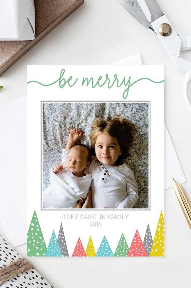 As crianças da família dão o tom desse outro cartão