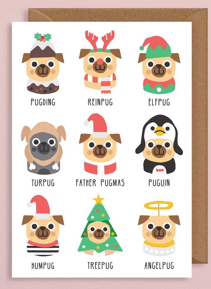 E para aqueles que gostam de pets você pode fazer um cartão com carinhas de cachorro