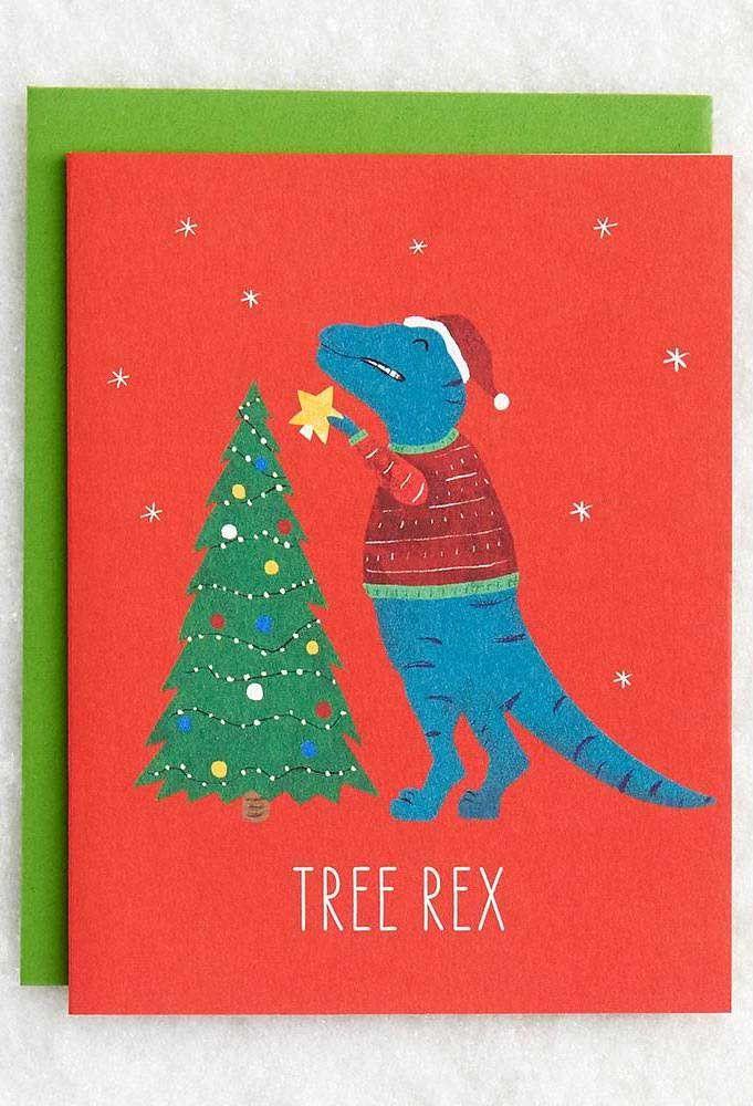 Um trocadilho divertido na capa do cartão de natal