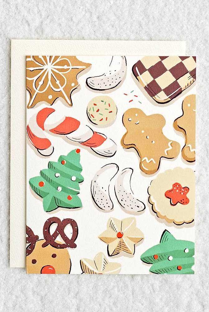 As guloseimas natalinas são o tema desse outro cartão