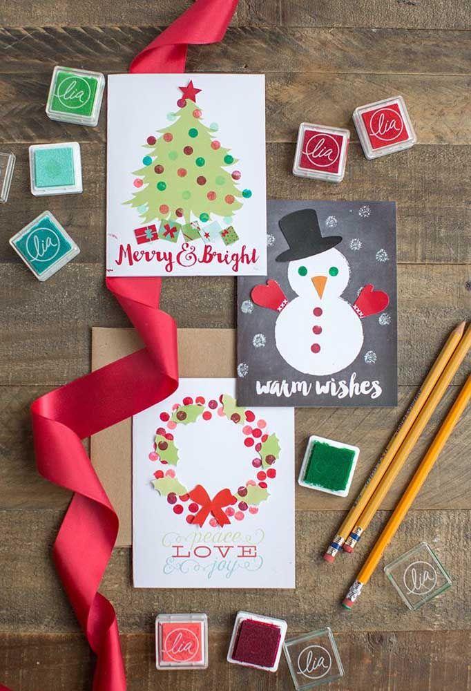 Tire um dia da semana só para se dedicar aos cartões de natal; vai ser relaxante, acredite!