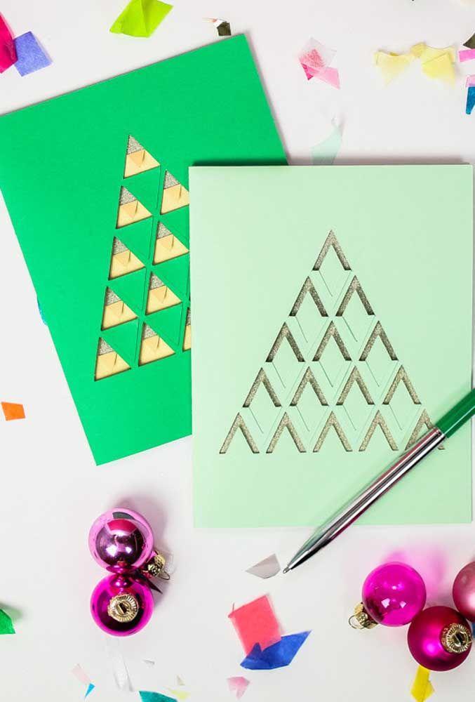 Formas e figuras também estão na lista de desenhos para os cartões de natal