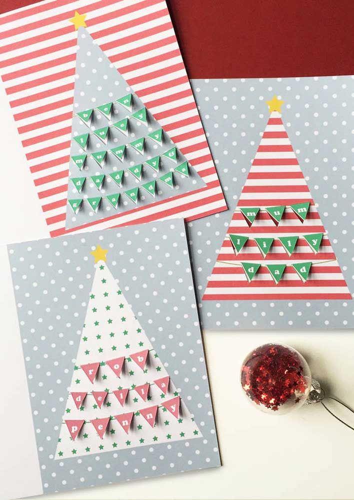 Misture cores e formas e faça um cartão diferente do outro.