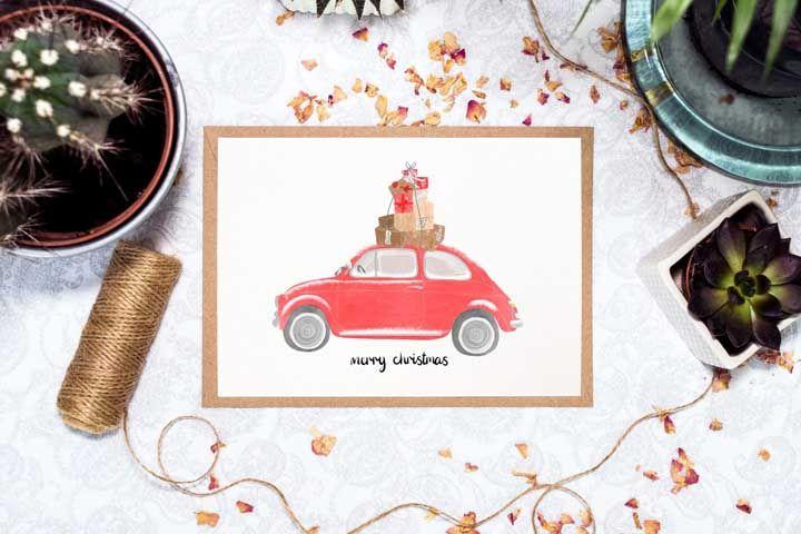 Aproveite o cartão de Natal para desejar boa viagem aos amigos que vão sair de férias